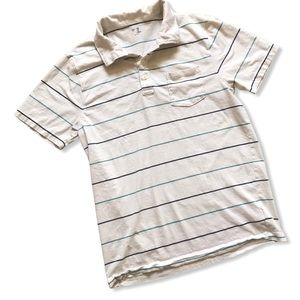 Men's Striped Cotton Polo Golf Shirt from the Gap